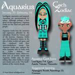 Goth Zodiac: Aquarius by Trellia