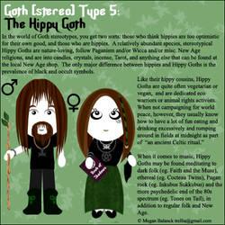 Goth Type 5: The Hippy Goth by Trellia