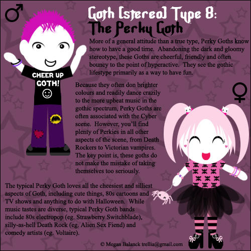 Goth Type 8: The Perky Goth by Trellia on DeviantArt