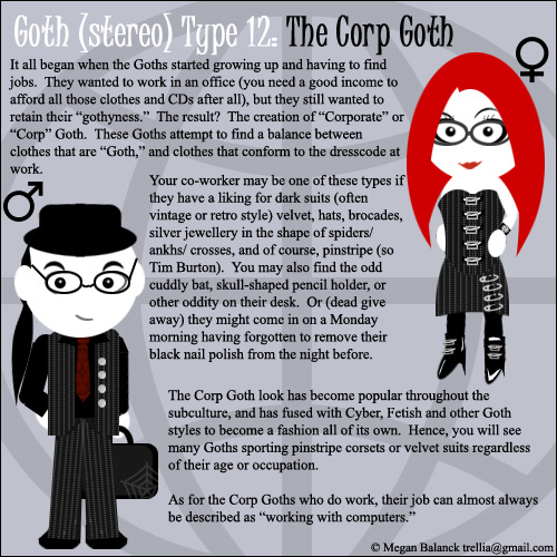 Goth Type 12: The Corp Goth by Trellia