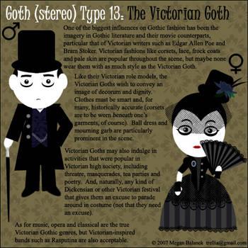 Goth Type 13: Victorian Goth by Trellia