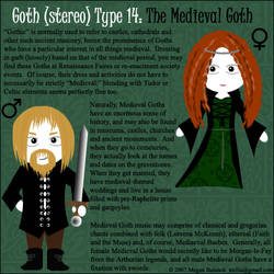 Goth Type 14:The Medieval Goth by Trellia