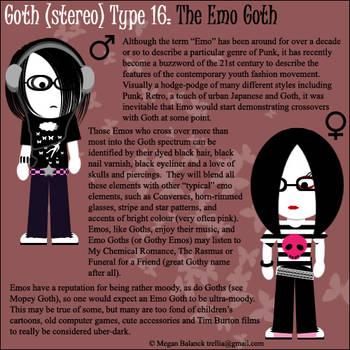 Goth Type 16: The Emo Goth by Trellia