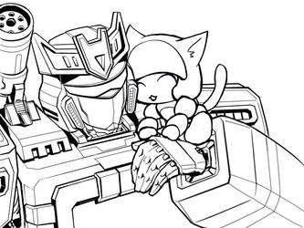 SW and Kitty Blaster drawing by sishamon10