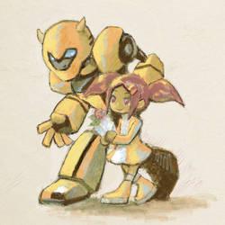 Bee and Sari by sishamon10