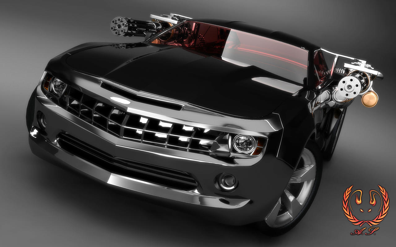 All-Black Chevy Camaro ZL1 Wallpaper