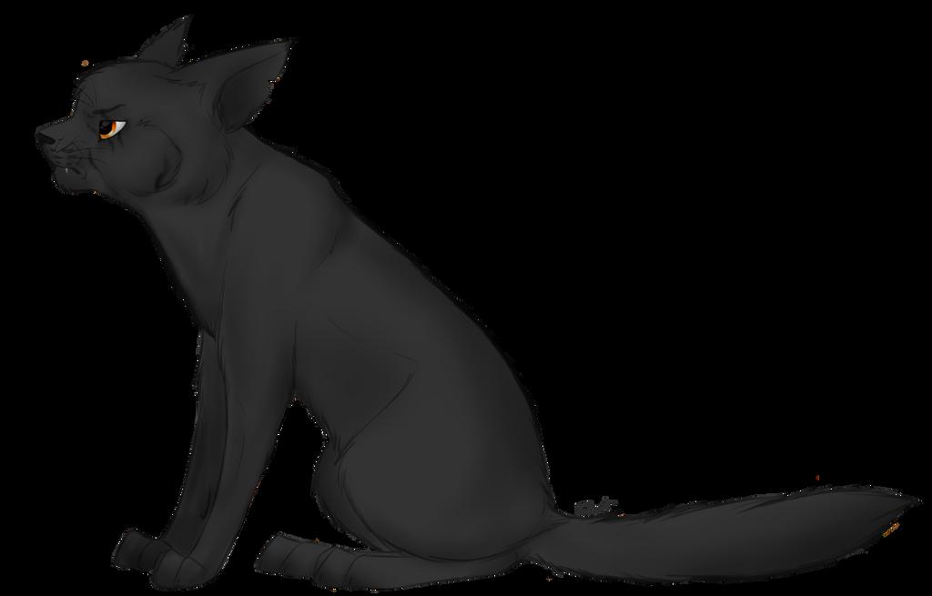 Anime Black Warrior Cat