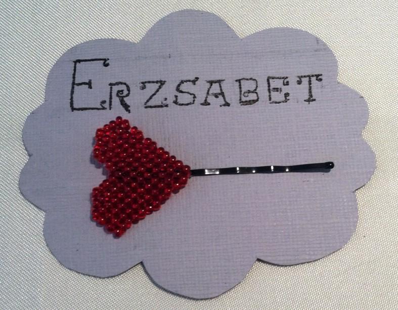 Pixel Heart Hair Pin by Erzsabet