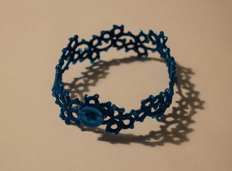 Blue Coral Bracelet by Erzsabet