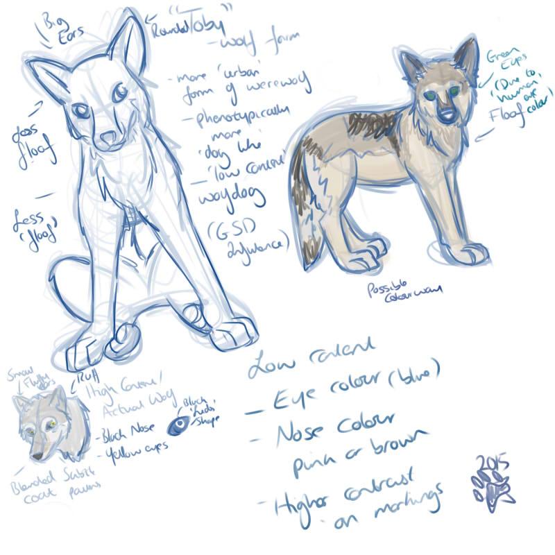 Werewolf Sketches by starrypawz