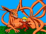Kyuubi and Baby Naruto