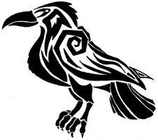 Raven Tattoo by shamrockdragon