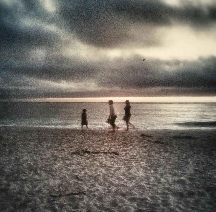 Beach Scene in Carmel by Jasminepearls
