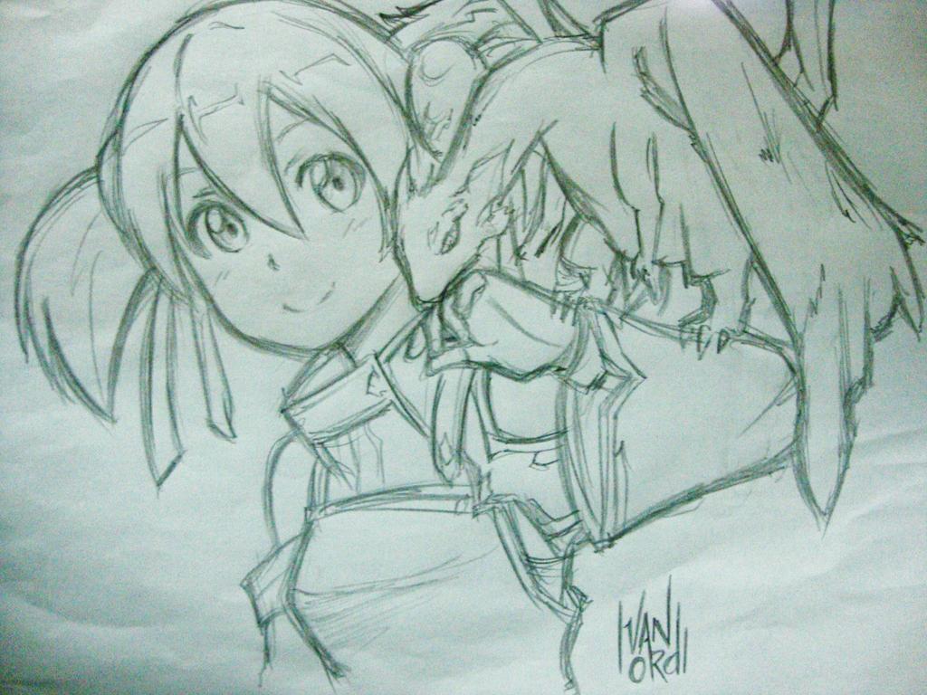 Silica from Sword Art Online Sketch by ivan-ordi on DeviantArt