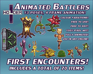 Holders Animated Battlers - First Encounters
