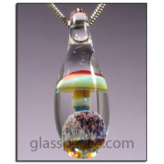 Glass mushroom pendant by glasspeace on deviantart glass mushroom pendant by glasspeace mozeypictures Images