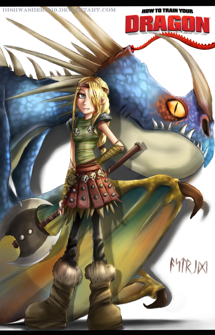 How to train your dragon- Astrid Hofferson by dishwasher1910