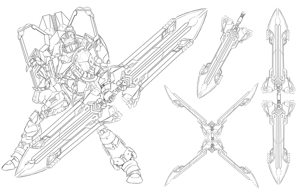 RWBY Concepts: Knights class - ARC-Slasher by dishwasher1910