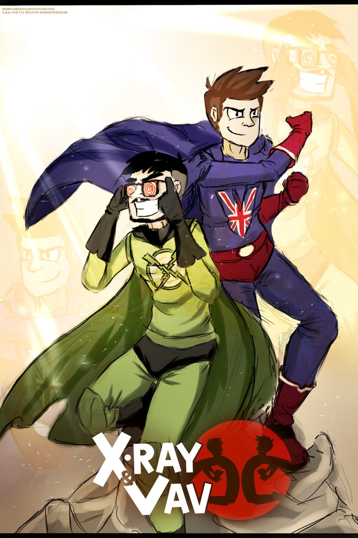 Quick doodle : X-ray and Vav poster by dishwasher1910