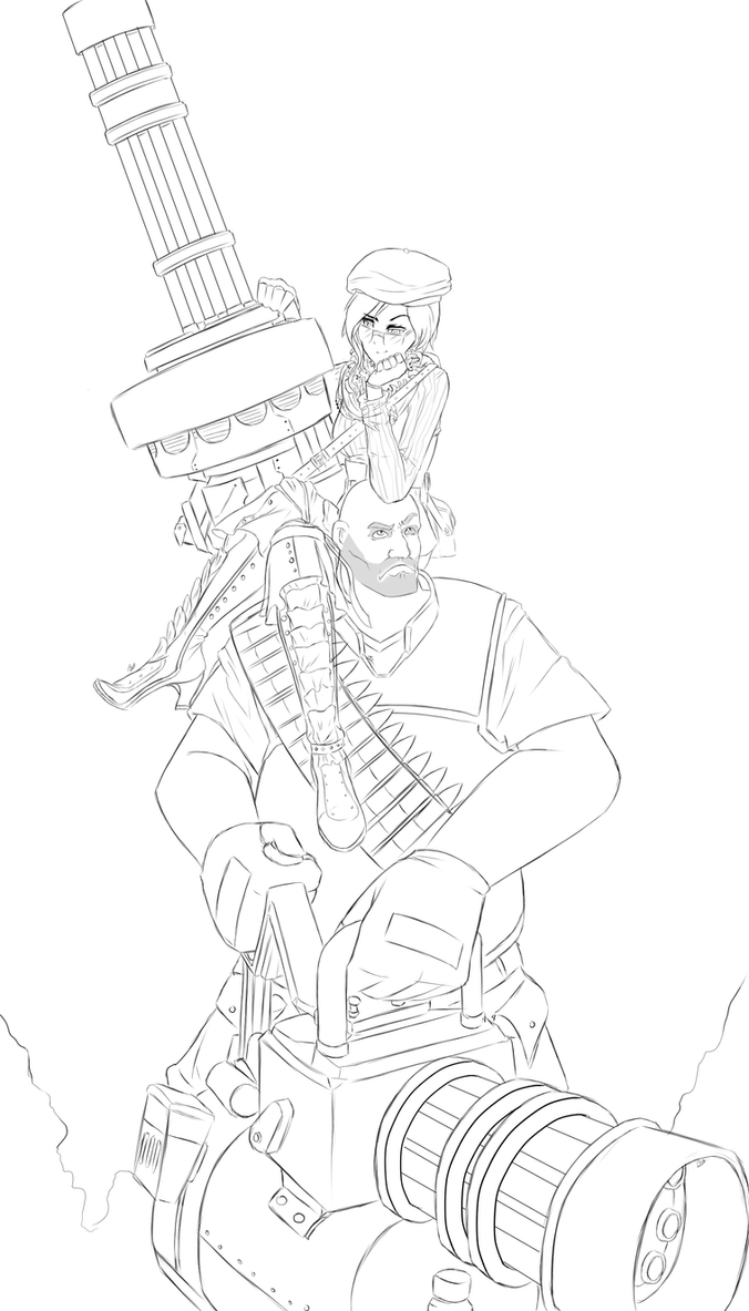 Coco and Heavy (WIP) by dishwasher1910