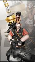 RWBY-TF2 Crossover :  Heavy weapons bros
