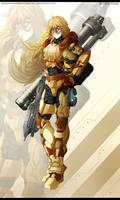 RWBY- Yang Xiao Long - SPARTAN armour