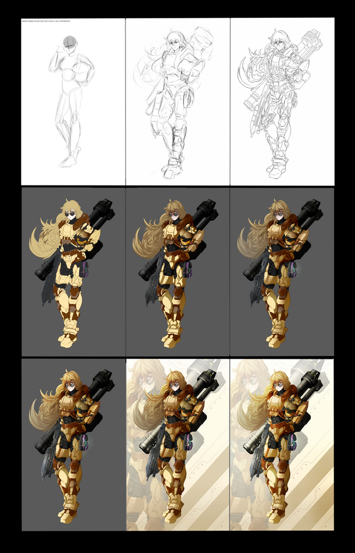 Yang Xiao Long : SPARTAN armor(Behind the scenes ) by dishwasher1910