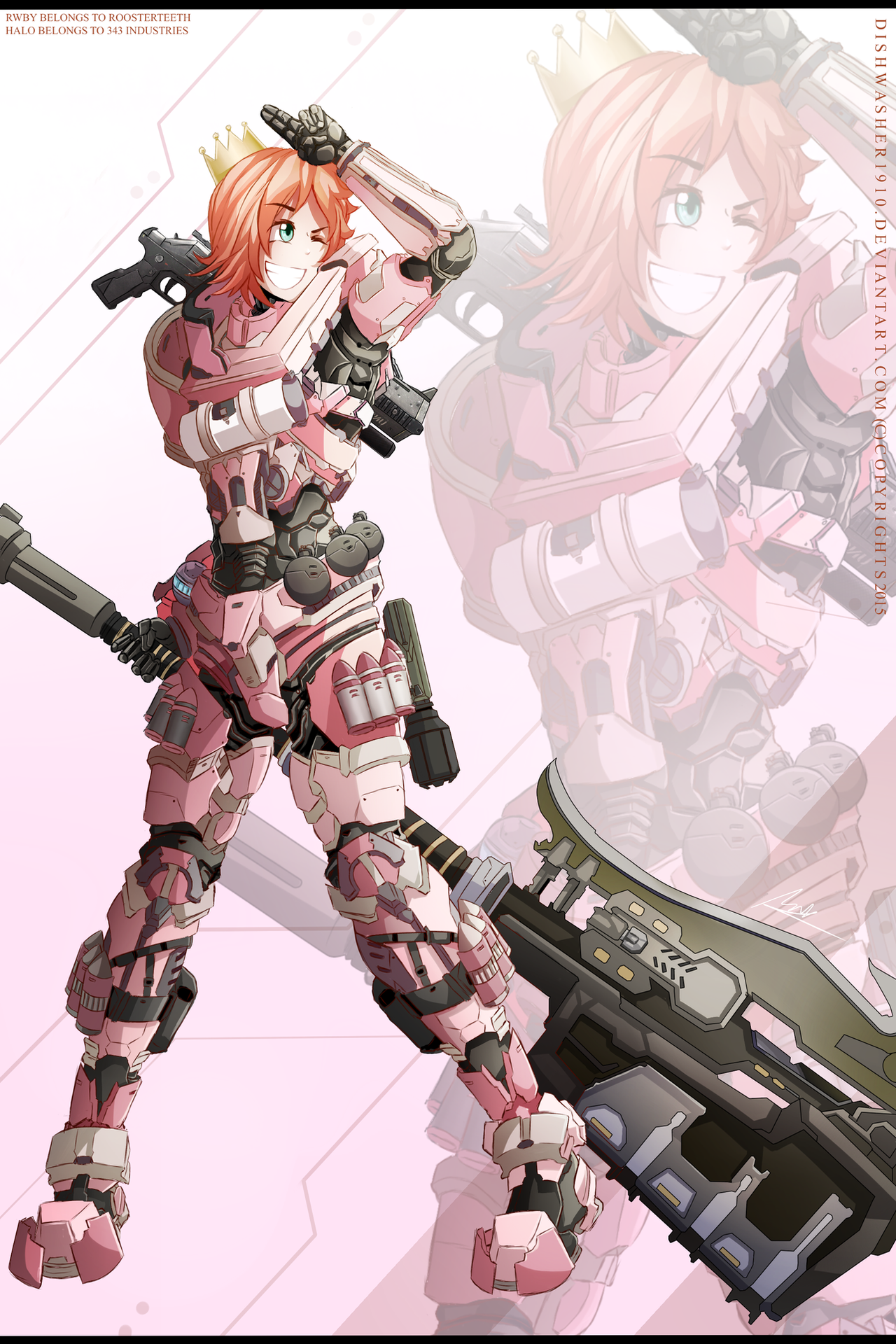 RWBY Nora Valkyrie SPARTAN Armour 505955668 on rwby jnpr vol 4