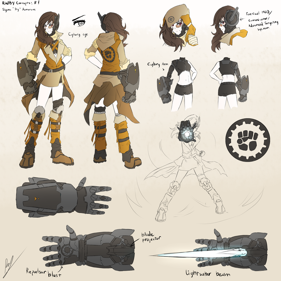 Character Design Ideas Generator : Rwby concepts oc siy by dishwasher on deviantart