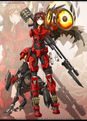 RWBYxHalo: Ruby - SPARTAN armour by dishwasher1910