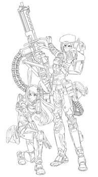RWBYxHalo : Coco and Velvet - SPARTAN armor (WIP)