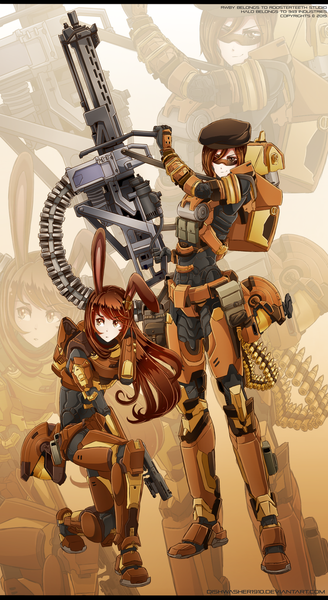 RWBYxHalo: Coco and Velvet - SPARTAN armour by dishwasher1910