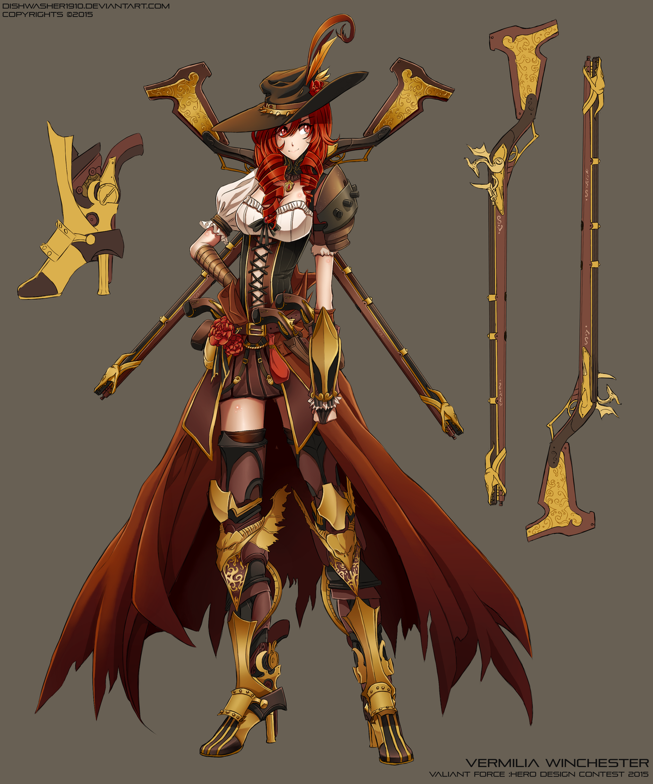 Rwby Character Design Contest : Valiant force design contest vermilia winchester by