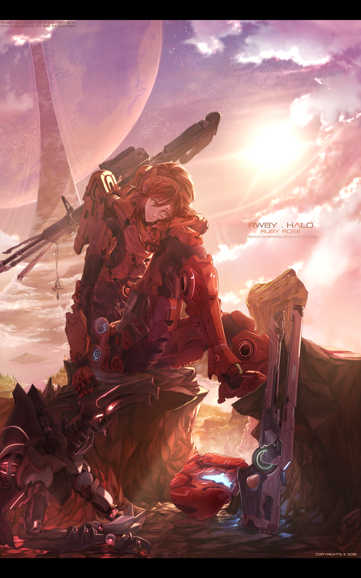 RWBY x Halo : Ruby Rose 2.0 by dishwasher1910
