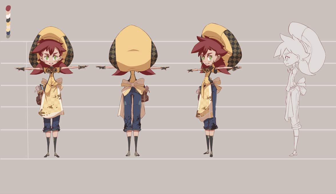 Character Design Courses University : University work character design : marie by dishwasher1910 on