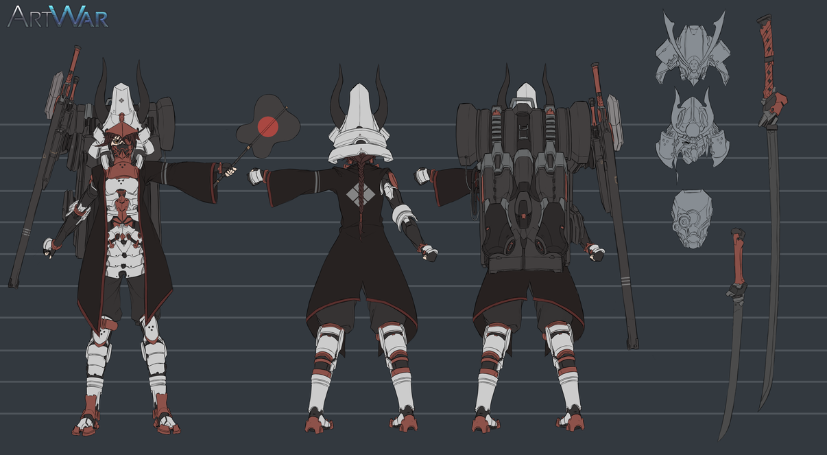 ARTWAR : Futuristic Samurai- character design by dishwasher1910