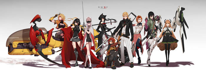 RWBY 3.0 - Line up by dishwasher1910