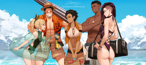 Gen:lock Beach day by dishwasher1910
