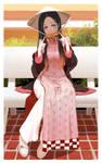 Nezuko Ao Dai