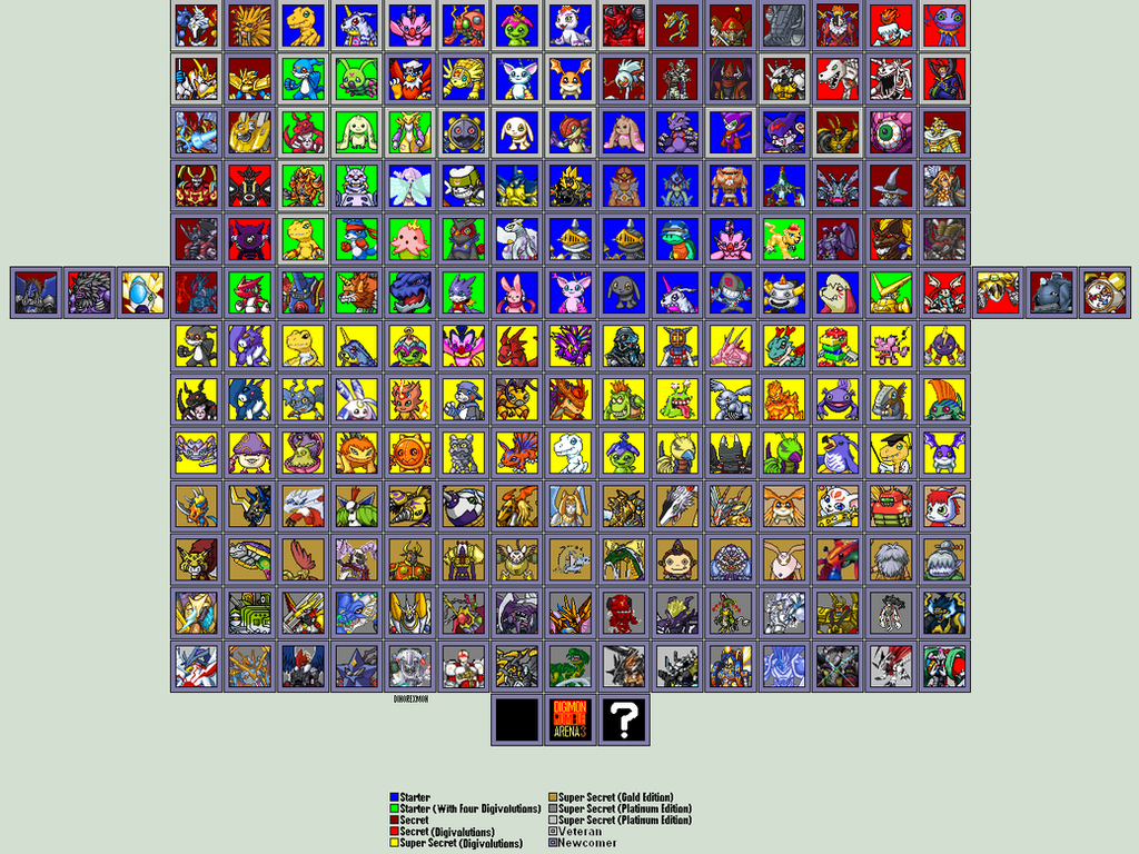 Digimon Rumble Arena 3 Characters(605) by idmp