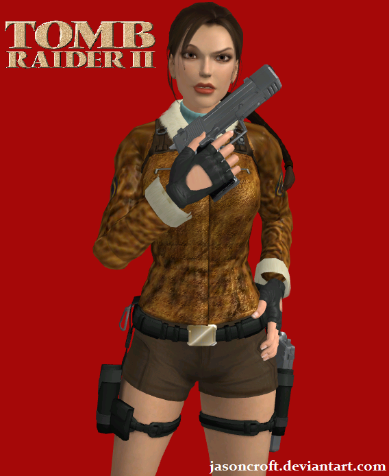 Tomb Rider Wallpaper: Tomb Raider II Bomber Jacket Pose By JasonCroft