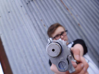 Alex Weiss Cosplay - Gun shot 1 by JasonCroft