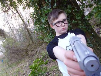 Alex Weiss Cosplay - Gun shot 2 by JasonCroft