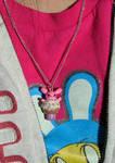 Bunnie Cupcake Necklace