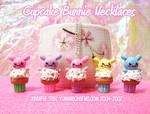 Cupcake Bunnie Necklaces