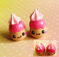 strawberry pudding by xlilbabydragonx