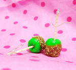 Green Caramel Apple EARRINGS
