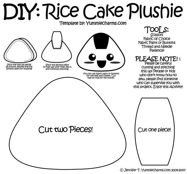 Rice cake plushie template by xlilbabydragonx on deviantart for Felt plushie templates