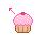 cupcake cursor by xlilbabydragonx