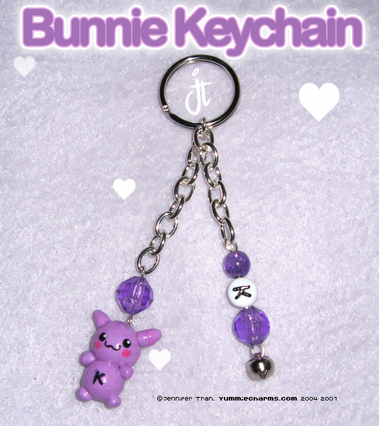 K Bunnie Keychain Commish by xlilbabydragonx